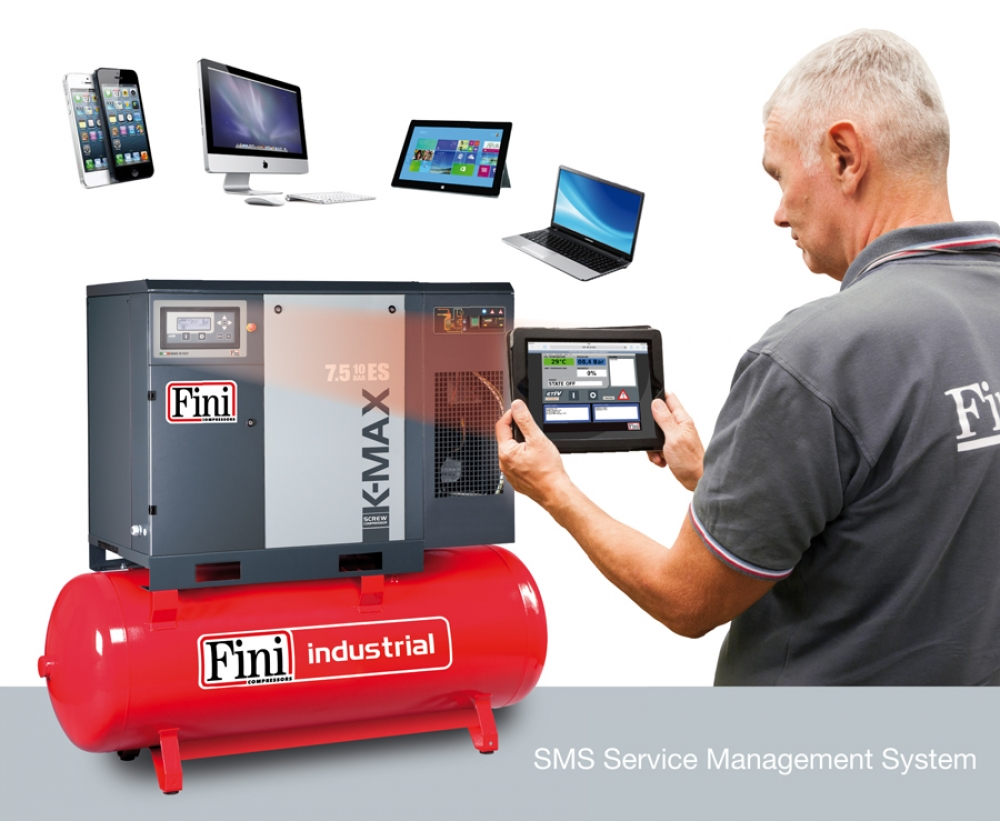 REMOTE MONITORING OF A SCREW COMPRESSOR BY THE NEW SMS DEVICE